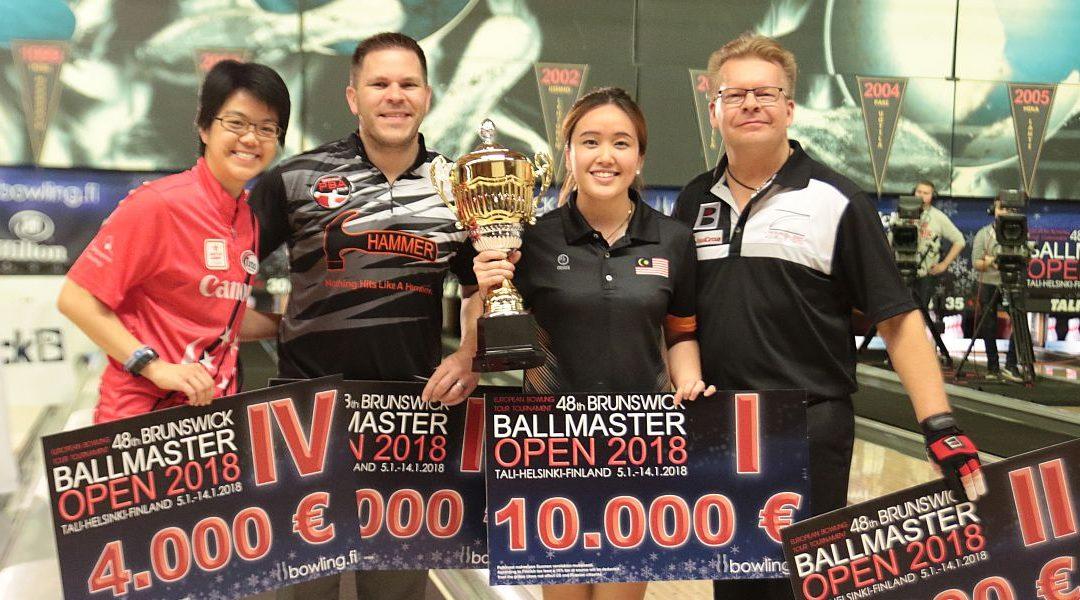 48 Brunswick Ballmaster Open uzvar Sin Li Jane no Malaizijas