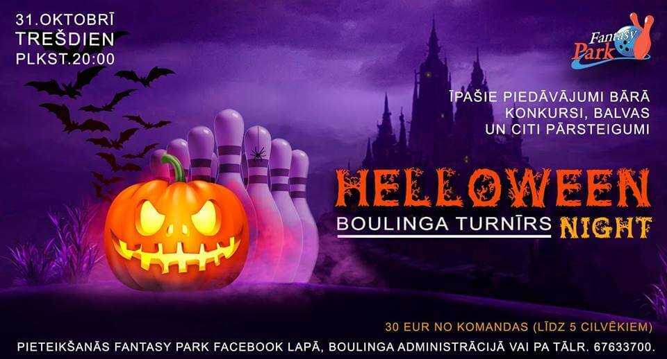 Helloween night boulinga turnīrs