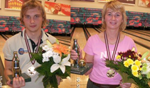 2006. gada Latvijas čempioni boulingā - Sandra Brice un Nikolajs Ovčiņņikovs