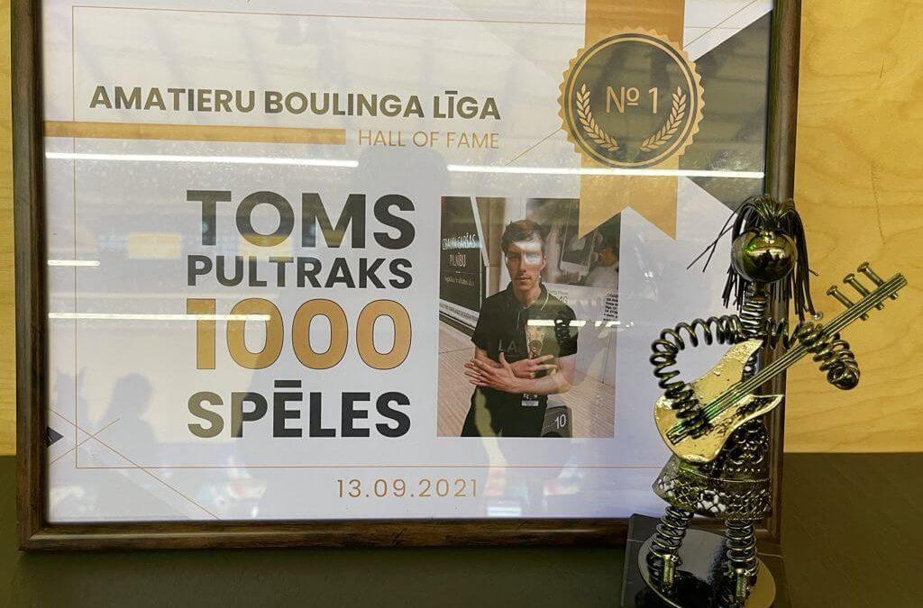Toms Pultraks – 1000 spēles ABL