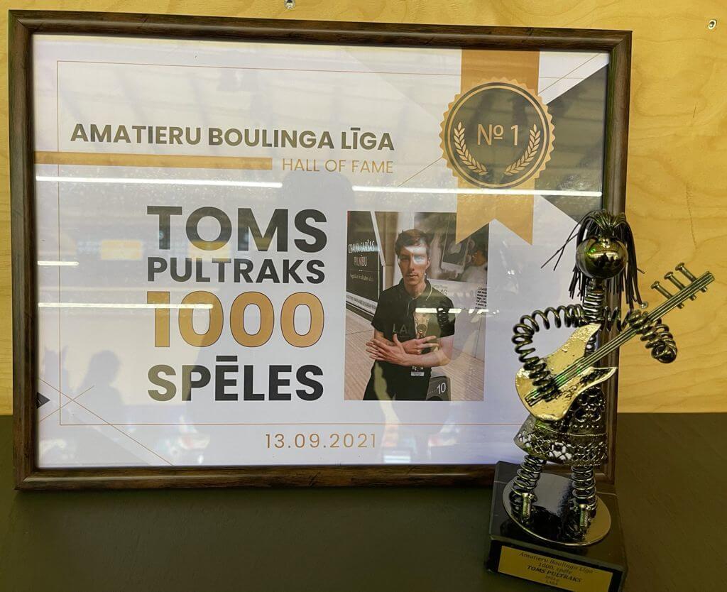 Toms Pultraks - 1000 spēles